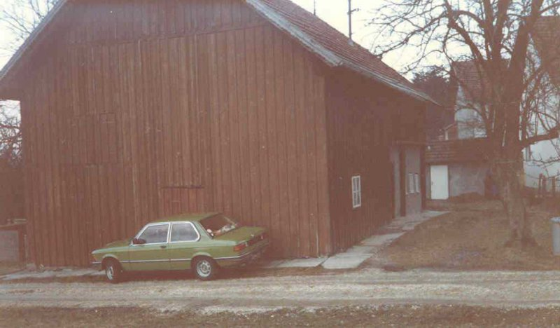 1985 Würzberg altes Haus von Westen