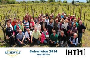 Am Fusse des Vesuv Weingarten Gruppenfoto